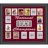 Alabama Crimson Tide 15-Time National Champions Framed Collage