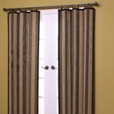 Bamboo Panel and Valance Set in Camel / Black
