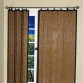 Bamboo Panel and Valance Set in Colonial