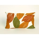 Mystic Leaf Rectangle Indoor/Outdoor Pillow in Orange