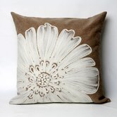 Antique Medallion Square Indoor/Outdoor Pillow in Taupe