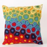 Pop Swirl Square Indoor/Outdoor Pillow in Multi