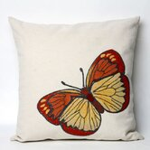 Butterfly Square Indoor/Outdoor Pillow in Orange