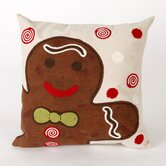 Ginger Boy Square Pillow in Chocolate
