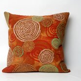 Graffiti Swirl Square Indoor/Outdoor Pillow in Warm