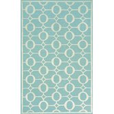 Spello Arabesque Aqua Outdoor Rug