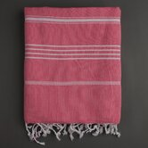 Ayrika Stripes Fouta Towel in Coral