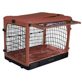 Deluxe Steel Dog Crate in Rust