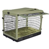 Deluxe Steel Dog Crate in Sage