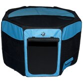 Octagon Pet Pen with Removable Top in Ocean Blue