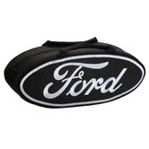 25&quot; Oval Shaped Canvas Bag in Black with White Lettering
