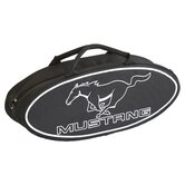 "25"" Mustang Oval Shaped Canvas Bag in Black with White Lettering"