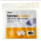 Binder Pocket (Set of 50)