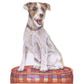Jack Russell Terrier Wooden Decorative Dog Doorstop
