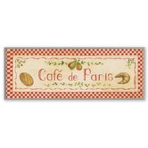 Café de Paris with Red Oversized Kitchen Wall Plaque