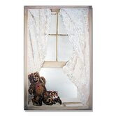 Faux Window Mirror Screen with Teddy Bear