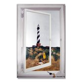 Faux Window Mirror Screen with Cape Hatteras Lighthouse