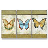 Le Papillon Triptych Wall Art