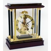 28cm Quartz Skeleton Clock with Hourly Passing Strike
