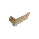 Sandstone 6&quot; x 18&quot; x 6&quot; Natural Ledge Stone Corner in Fossil Rustic