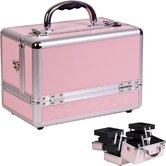 Makeup Case with 3-Tiers Expandable Trays
