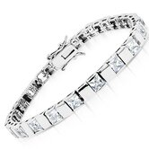 Princes Cut Cubic Zirconia Bracelet