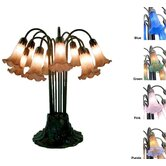 Lily Table Amber / Purple Table Lamp