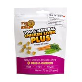 Freeze Dried Chicken Liver Plus Peas and Carrots Cat Treats - 0.75 oz.