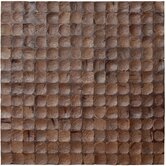 17&quot; x 17&quot; Coconut Mosaic Tile in Espresso Bliss