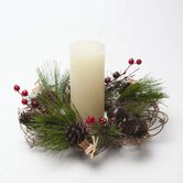 Jardin Christmas Woodland Berry and Bell Candle Wreath