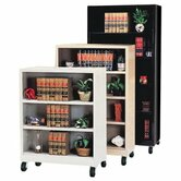 58&quot; H Four Shelf Mobile Bookcase
