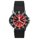 41200 Series Dive Watch with Red Face