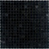 "5/8"" x 5/8"" Polished Granite Mosaic in Absolute Black"