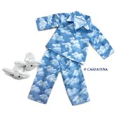American Girl Dolls Cloud Nine Pajamas and Bunny Slippers