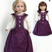 Clothes Pattern Doll Medieval Side less Gown