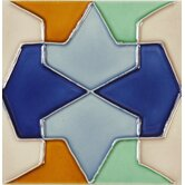 "Mission 6"" x 6"" Hand-Painted Ceramic Decorative Tile in Conos"