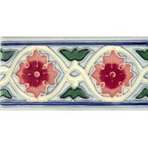 Mission 3&quot; x 6&quot; Hand-Painted Ceramic Decorative Tile in Rosita