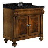 "John Adams 36"" Vanity in Brown Cherry with Granite Top"