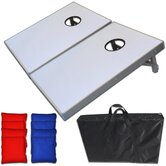 Premium Light Up LED Cornhole Bean Bag Toss Game Set