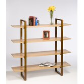 Breeze Bookcase with Wood Legs