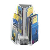 Safco Clear Pamphlet Table Display with 6 Pockets (2-Tier Triangular)