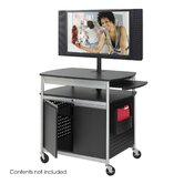 Scoot Flat Panel Multimedia Cart in Black