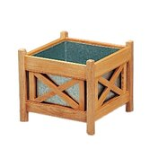 Teak Drachmann Square Flower Box Planter
