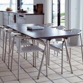Fiber Concrete Top Ocean Dining Table