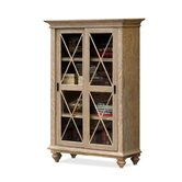 Coventry Sliding Door Bookcase in Weathered Driftwood