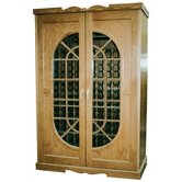 700 Monaco French Window Oak Wine Cooler Cabinet