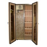 700 Two Door Oak Wine & Cigar Cooler Cabinet