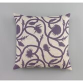 Thistle 20 x 20 Vine Amethyst Decorative Pillow