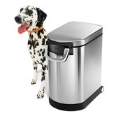 6.5 Gallon Pet Food Storage Can in Brushed Stainless Steel