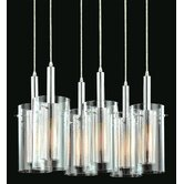 Zylinder Contemporary 6 Light Linear Pendant
